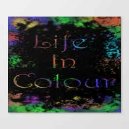 life in colour Canvas Print