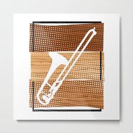 Trombone  TShirt Music Instrument Shirt Musician Gift Idea Metal Print