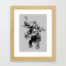 Fly Heavy Framed Art Print