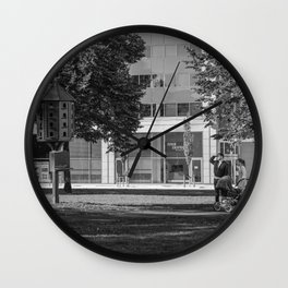 Not yet ready to leave the nest Wall Clock