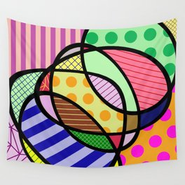Retro Curves - Big Bold Geometric Patterns Wall Tapestry