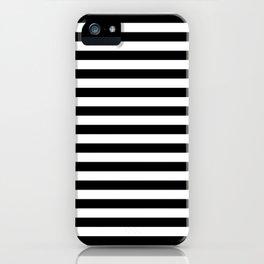Black White Stripes Minimalist iPhone Case