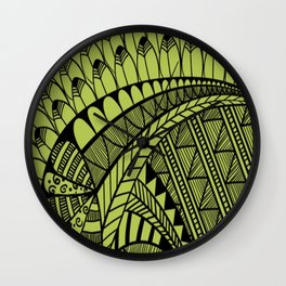 Whimsy Pattern Wall Clock