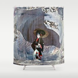 Out of the Cave, Into the Storm, the Hero Prepares for the Next Battle Shower Curtain