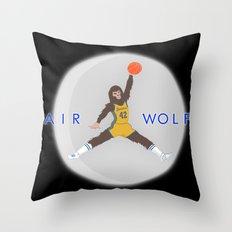 Air Wolf Throw Pillow