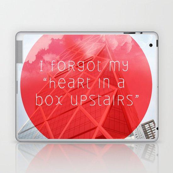 heart in a box upstairs Laptop & iPad Skin