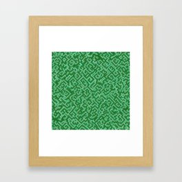 Complexity in green Framed Art Print