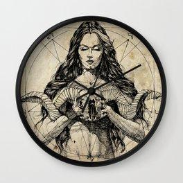 Lady With Skull. Ink on Paper. Юрий Фадеев. Yury Fadeev Wall Clock