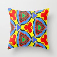 trippy Throw Pillows featuring Trippy by Erin Brekke Conn