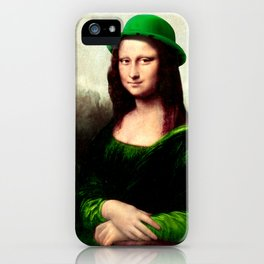 Lucky Mona Lisa - St Patrick's Day iPhone Case