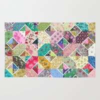 quilt Area & Throw Rugs featuring Betty's Diamond Quilt by Rachel Caldwell