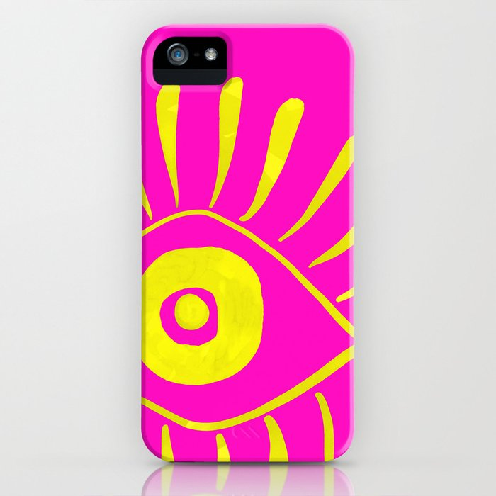 Vision Yellow iPhone Case
