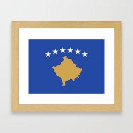 Kosovo Flag Framed Art Print