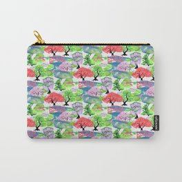 Japanese Garden Pattern_Watercolor & Ink Carry-All Pouch