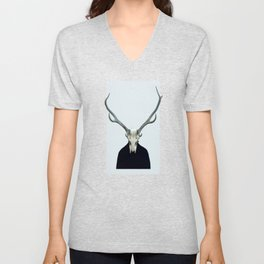 Living Skull and Horns Unisex V-Neck