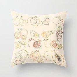 Fruits Throw Pillow