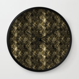 Snake skin. Wall Clock