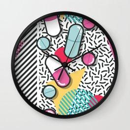 Pills pattern 018 Wall Clock