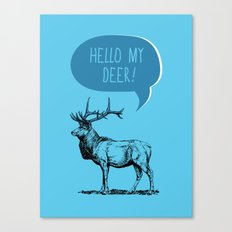 Deer Pun Canvas Print