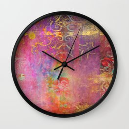 Boho Rose Wall Clock