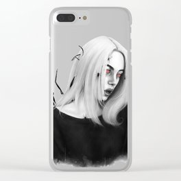 Billie Eilish You Should See Me In A Crown Red Eyes Clear iPhone Case