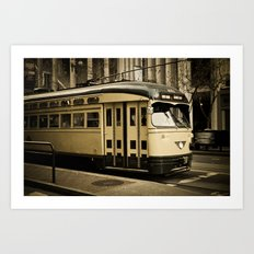 San Francisco Street Car Art Print