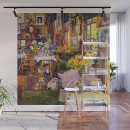 Classical Masterpiece 'The Room Full of Flowers' by Frederick Childe Hassam Wall Mural