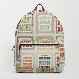 Antique Wood Type Backpack