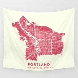 Portland City Map Wall Tapestry