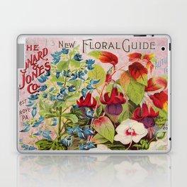 Vintage Flowers Advertisement Collage Laptop & iPad Skin