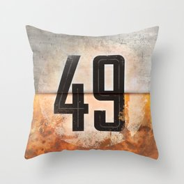 Vintage Auto Racing Number 49 Throw Pillow