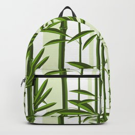 Green bamboo tree shoots pattern Backpack