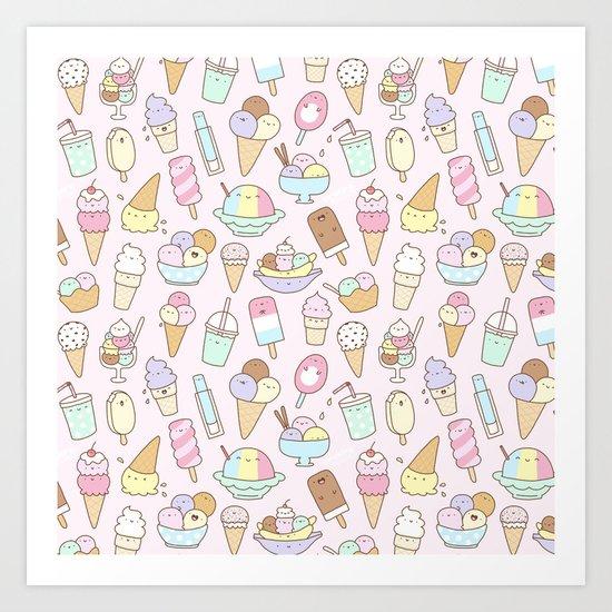 I love Ice Cream Art Print