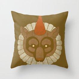 Circusbear Throw Pillow