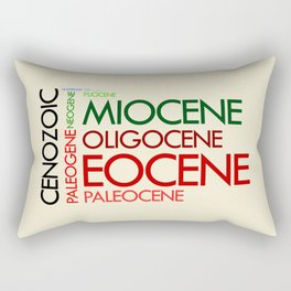 Cenozoic Eras, Ages and Epochs Rectangular Pillow