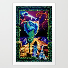 Trippy Psychedelic Surreal Visionary Art by Vincent Monaco - Strength Art Print