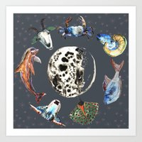 cosmic Art Prints featuring Cosmic by AnnaW