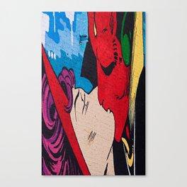 Comic Romance  Canvas Print