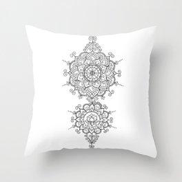 Mendi Mandala Madness  Throw Pillow