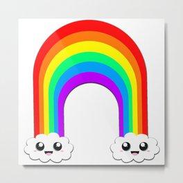 Happy Rainbow (Single On White) Metal Print