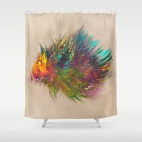 hedgehog Shower Curtains featuring hedgehog by jbjart