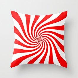 Swirl (Red/White) Throw Pillow