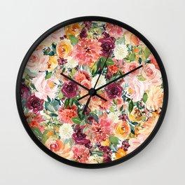 flower bomb Wall Clock