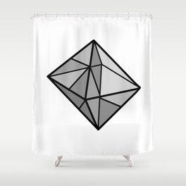 Graphic . Geometric Shape Black Gray Shower Curtain