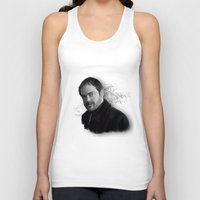 crowley Tank Tops featuring Supernatural - Crowley The King of Hell ! by firatbilal