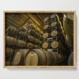 Winery Barrels Serving Tray