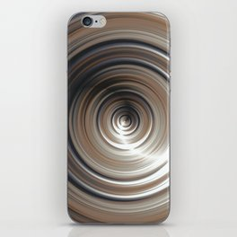 Cosmic Swirl: digital art with concentric circles iPhone Skin
