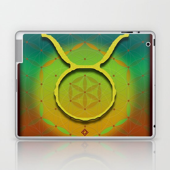 Flower of Life TAURUS Astrology Design Laptop & iPad Skin