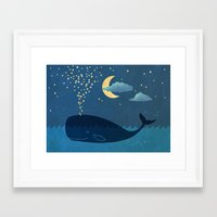 star Framed Art Prints featuring Star-maker by Terry Fan