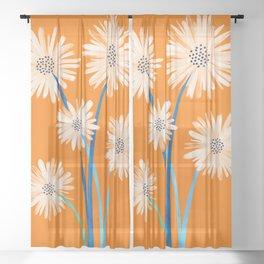 Moroccan Daisies Sheer Curtain